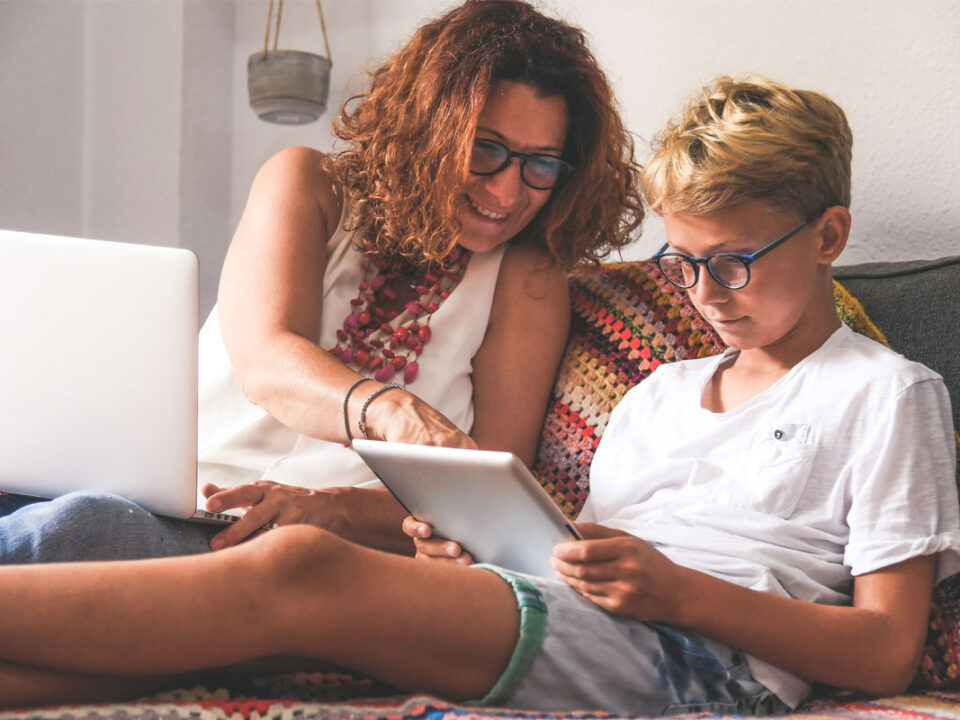 Parent and Teen Using Tablet
